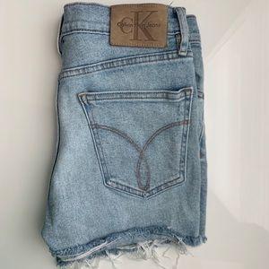 Calvin Klein Distressed Denim Shorts